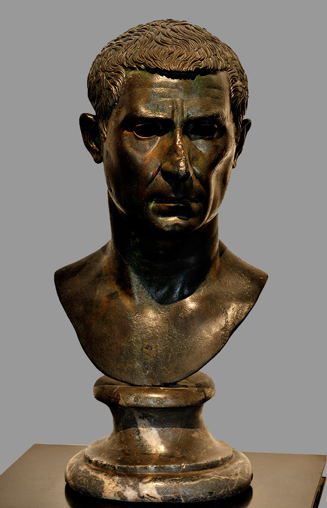 Bust of Lucius Calpurnius Piso Pontifex. Bronze. Late 1st century BCE. Inv. No. 5601. Naples, National Archaeological Museum