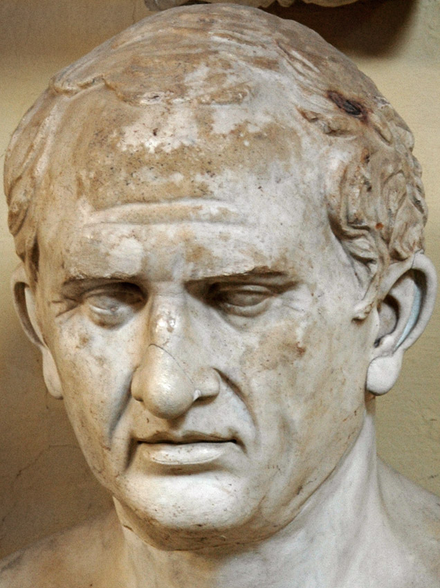The portrait, formerly identified as Cicero. Detail. Fine-grain gray marble. Inv. No. 1359. Rome, Vatican Museums, Chiaramonti Museum, XI. 12
