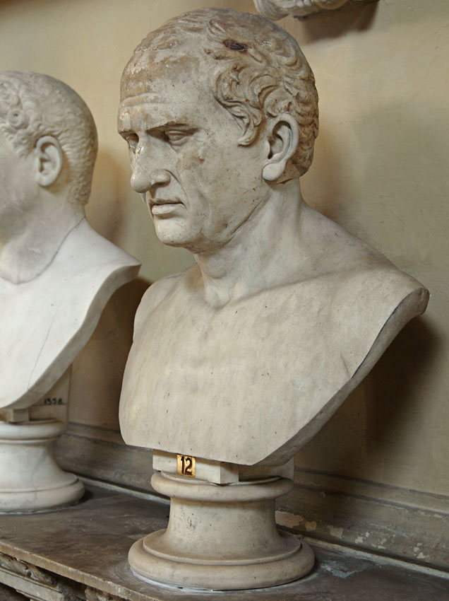 The portrait, formerly identified as Cicero. Fine-grain gray marble.  Inv. No. 1359. Rome, Vatican Museums, Chiaramonti Museum, XI. 12