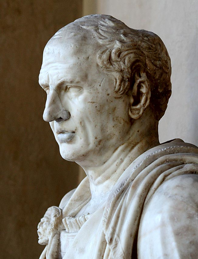 Cicero. Head: Italian marble — 2nd cent. CE. Bust: Italian marble — 16th cent. CE. Inv. No. 6765. Mantua, Ducal Palace
