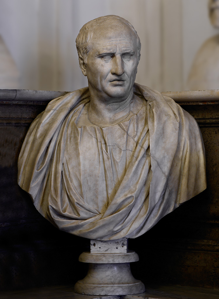 Cicero. Marble. Mid-1st century BCE. Inv. No. MC589. Rome, Capitoline Museums, Palazzo Nuovo, Hall of the Philosophers