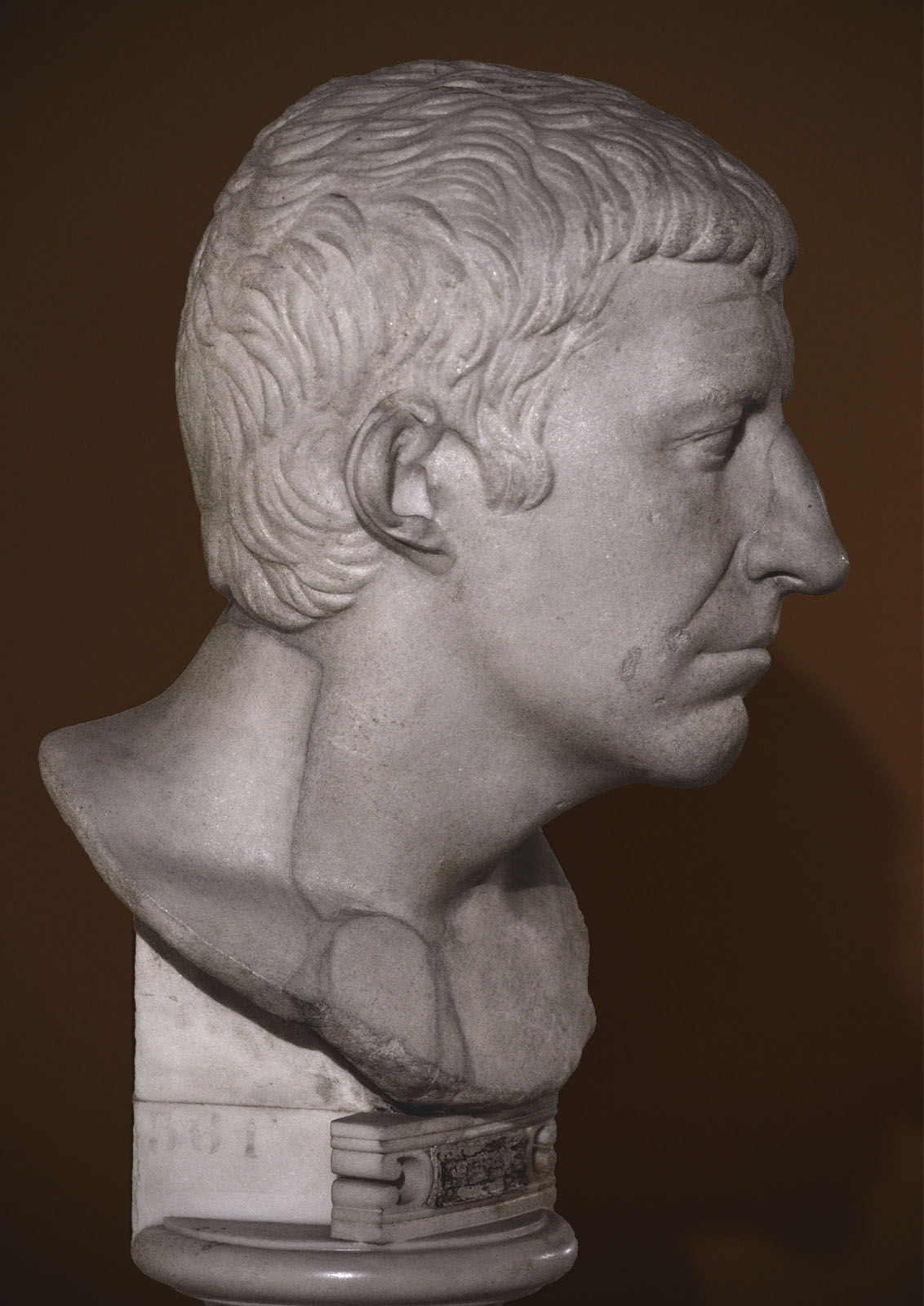 The so-called portrait of Corbulo. Parian marble. 1st cent. BCE. Inv. No. MC 561. Rome, Capitoline Museums, Museum Montemartini (Centrale Montemartini), I. 55