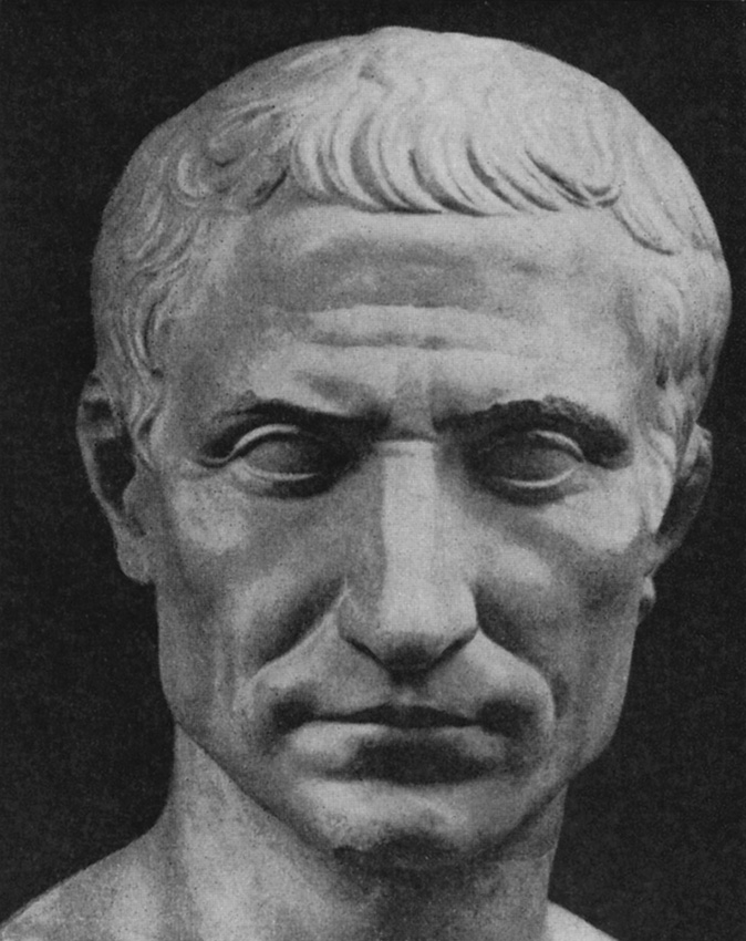 Portrait of Julius Caesar. Marble. Age of August. Rome, Vatican Museums, Pius-Clementine Museum, Gallery of the Busts, 122