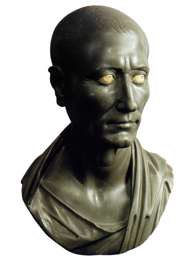 Portrait of Julius Caesar. Greenschist. 10s BCE — 30 CE. Berlin, State Museums, Collection of Classical Antiquities