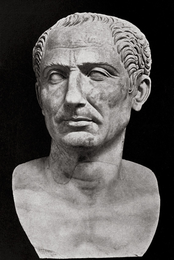 Colossal bust of Julius Caesar.  Naples, National Archaeological Museum