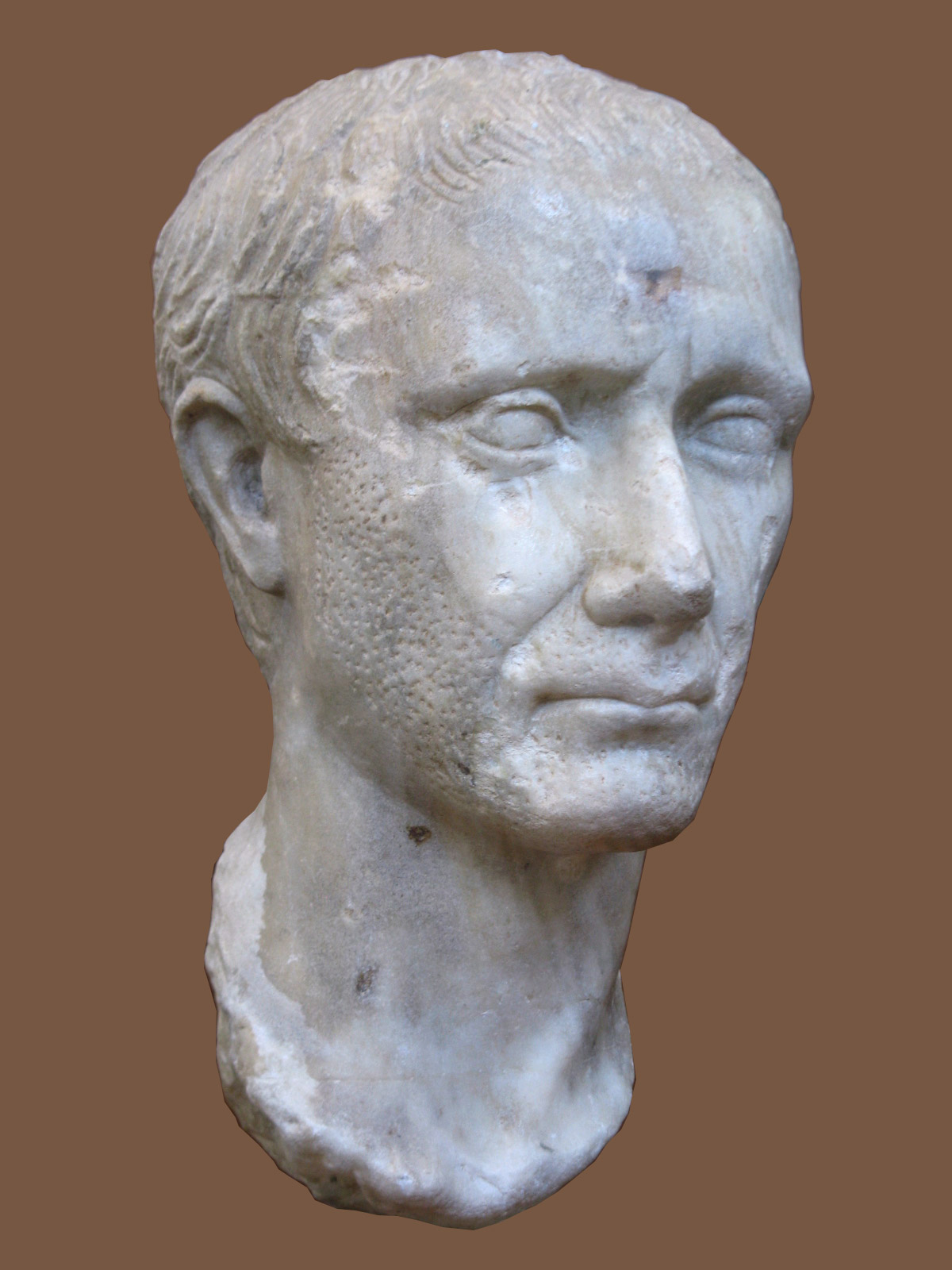 Gaius Julius Caesar. Marble. First quarter of the 1st century CE. Inv. No. S 2771. Corinth, Archaeological Museum of Ancient Corinth