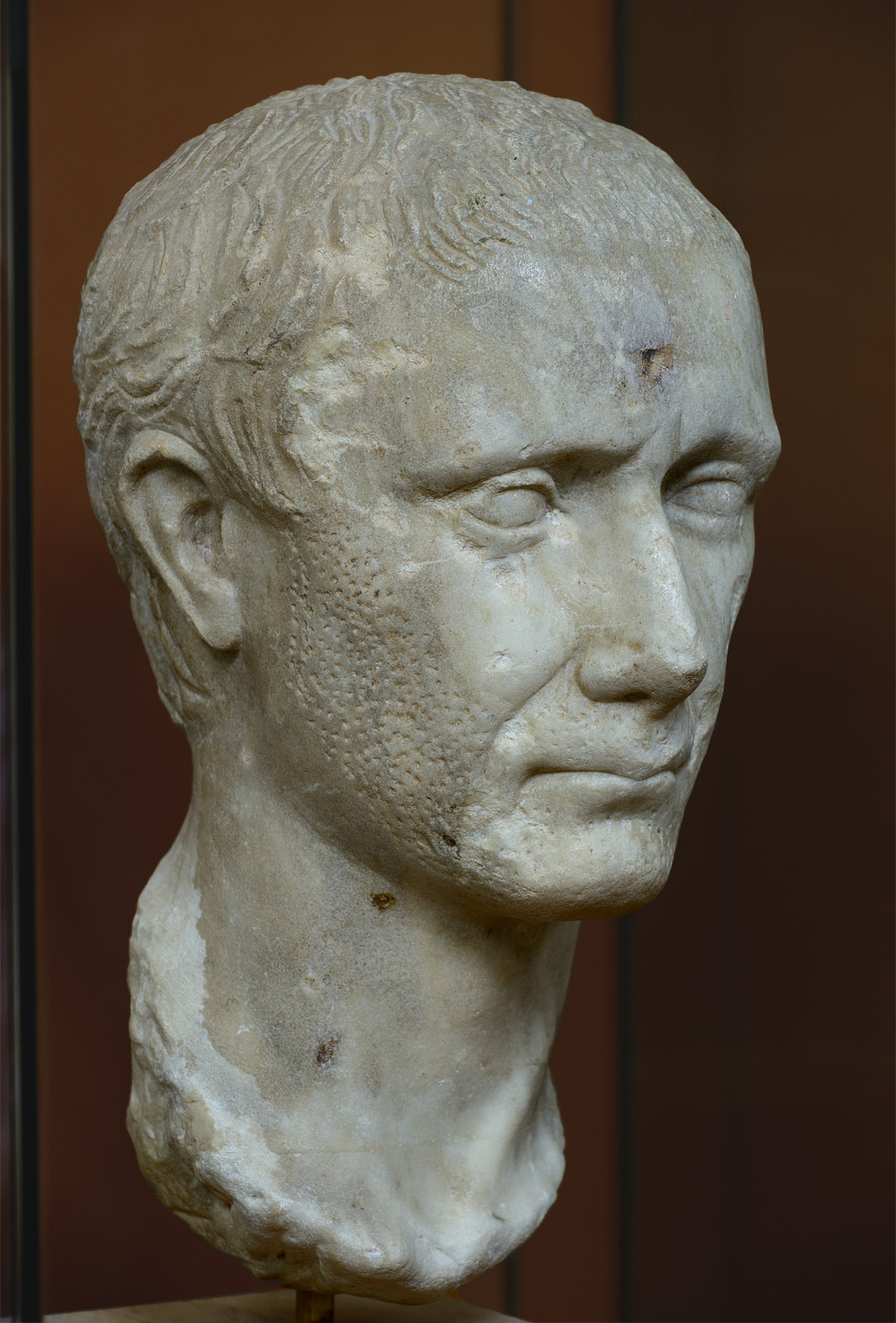 Gaius Julius Caesar (?). Marble. First quarter of the 1st century CE. Inv. No. S 2771. Corinth, Archaeological Museum of Ancient Corinth