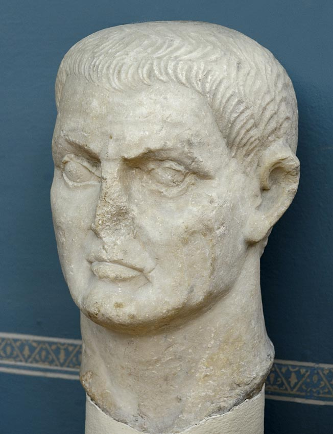 Marcus Antonius (presumably). Marble. 1st century BCE. Inv. No. ROM 2002. Bologna, Civic Archaeological Museum