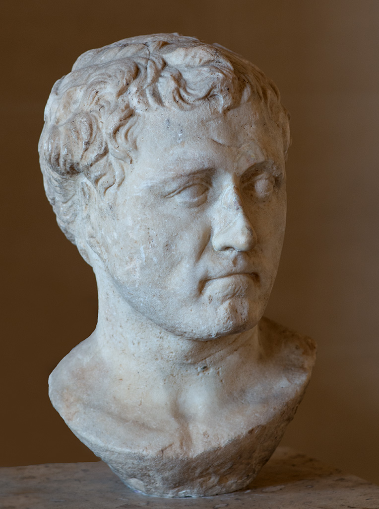 Young Pompey. Marble. Ca. 70 BCE.  Inv. No. MNE 823 / Ma 999. Paris, Louvre Museum