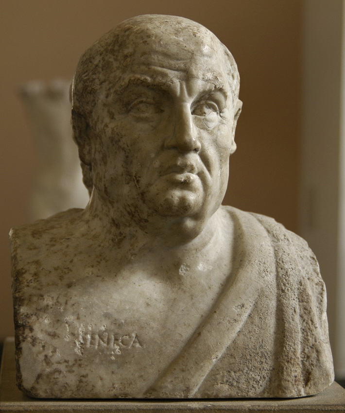 Seneca. Double herm with portraits of Socrates and roman philosopher Seneca. Marble. First half of the 3rd century. Portraits are coupled in double herm by later roman copyist. Inv. No. Sk 391 (R 106). Berlin, State Museums, Pergamon Museum