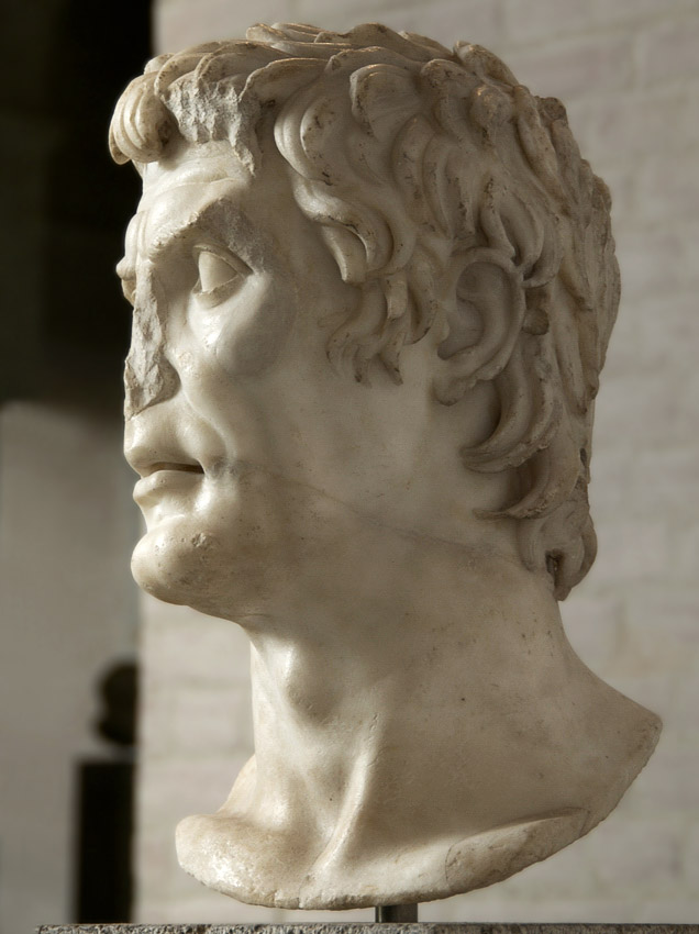 Male portrait, so-called Sulla. Marble. Copy of the Augustan age from a portrait of the 2nd century BCE. Height 42 cm. Inv. No. 309. Munich, Glyptotek