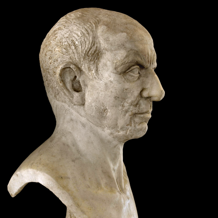Male portrait. Marble. 1st century BCE. Inv. No. MC565. Rome, Capitoline Museums, Palazzo Nuovo, Hall of the Doves