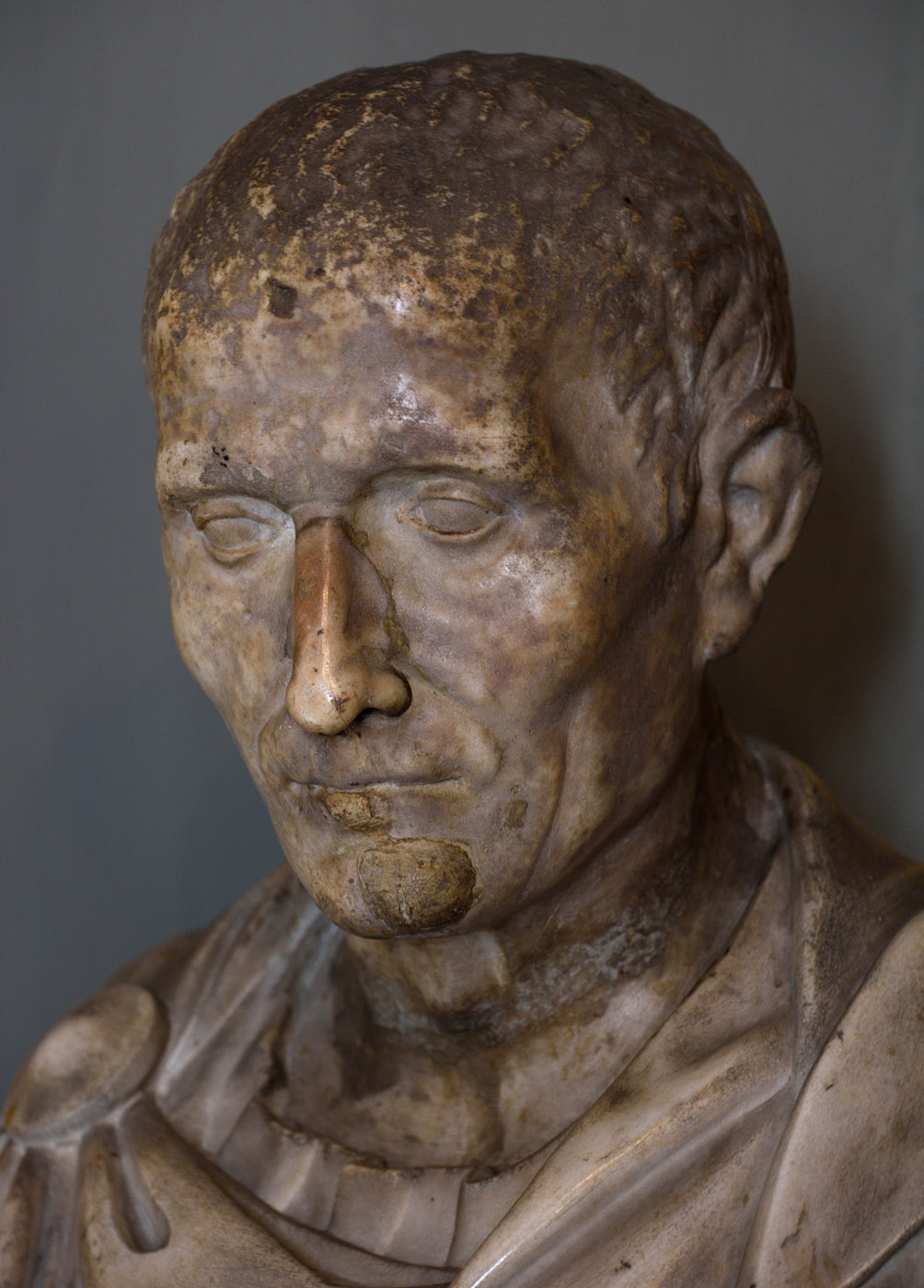 Portrait of  unknown man (close-up). Marble. 40—30 BCE. Inv. No. 54 (Cat. 1937). Rome, Galleria Colonna