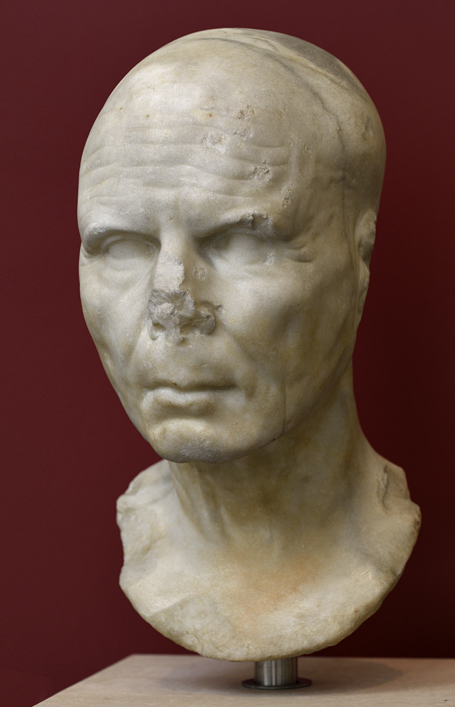 Portrait of aт unknown man. Marble. Mid-1st century BCE. Inv. No. 126368. Rome, Roman National Museum, Palazzo Massimo alle Terme
