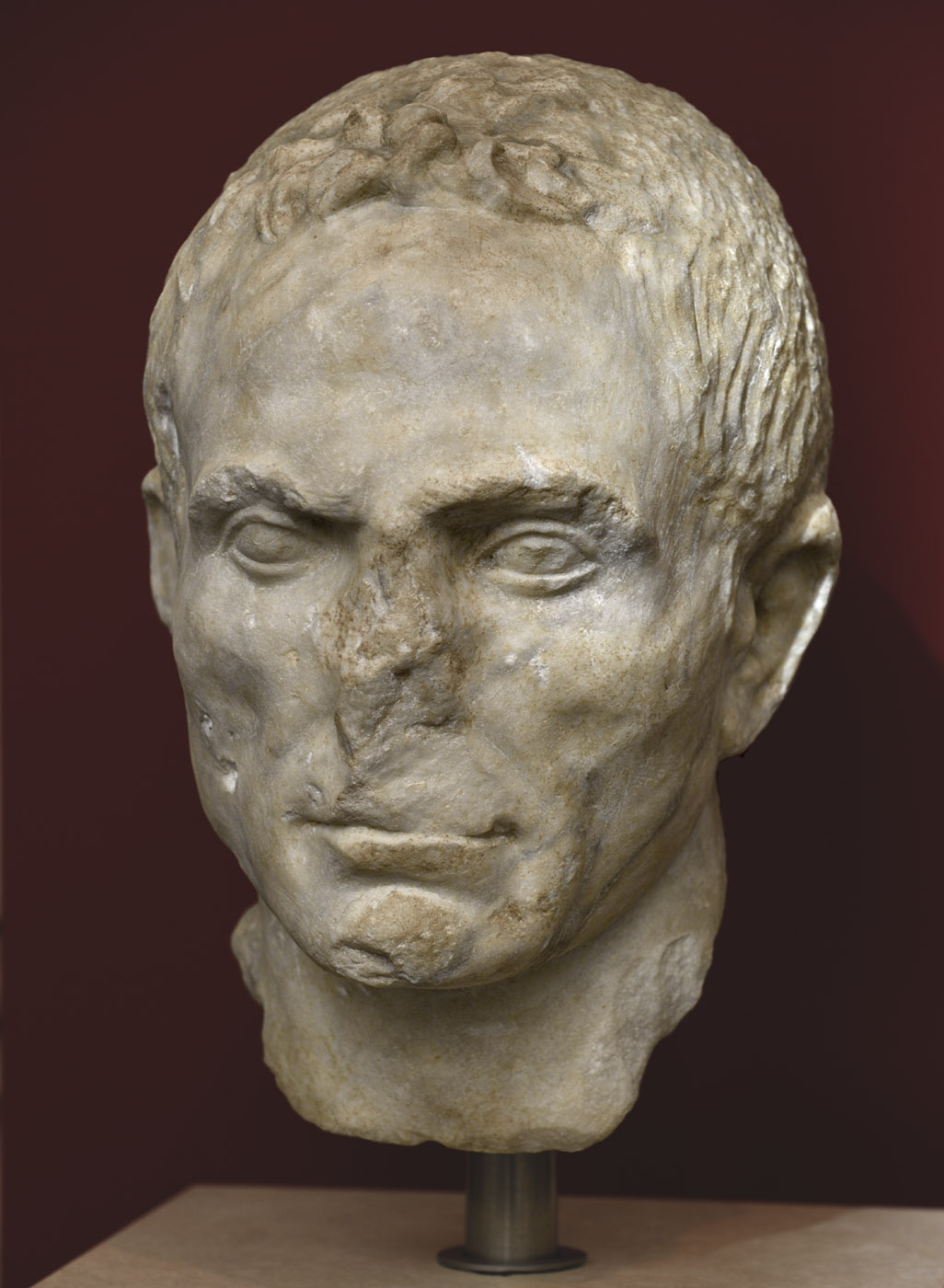 Portrait of aт unknown man. Luna marble. Mid-1st century BCE. Inv. No. 4293. Rome, Roman National Museum, Palazzo Massimo alle Terme