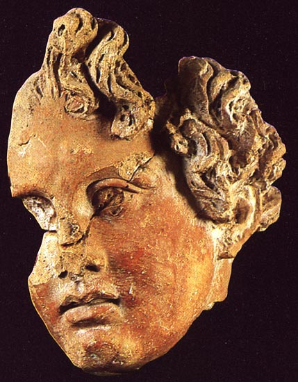 Terracotta head of a young man in the Hellenistic style. Late 4th — early 3rd centuries BCE. Rome, National Etruscan Museum of Villa Julia