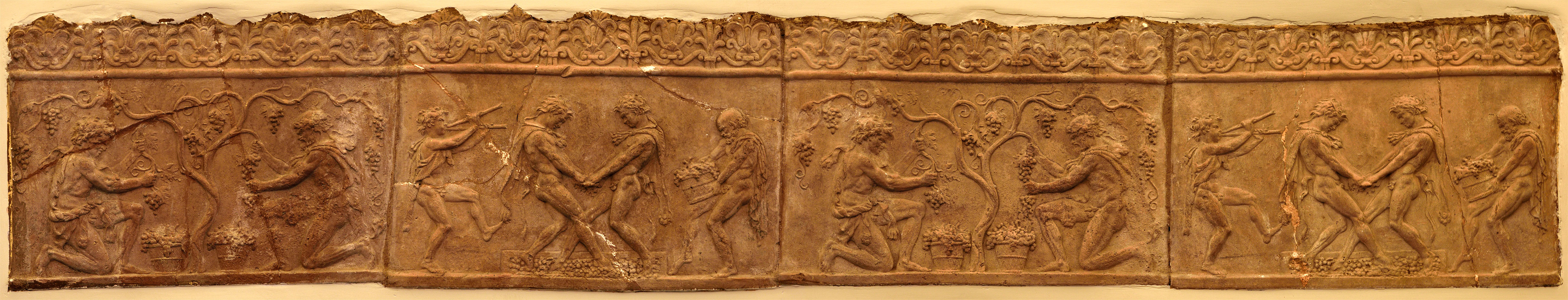 Four Campana plaques with vintage scenes. Terracotta. Late Augustan age. Inv. No. 11. Rome, Galleria Colonna