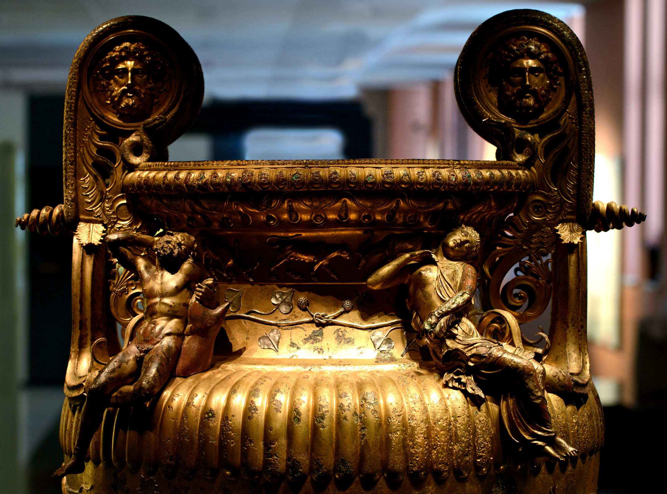 The Derveni krater (close up). Bronze. 330—320 BCE. Inv. No. B1. Thessaloniki, Archaeological Museum