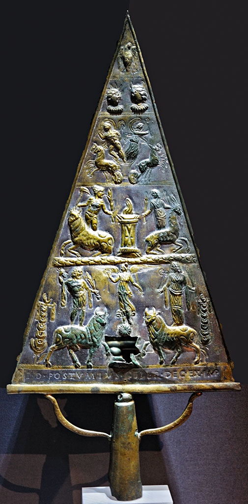 Votive bronze tablet dedicated to Jupiter Dolichenus. Bronze, chasing. Inv. No. M5. Vienna, Museum of Art History