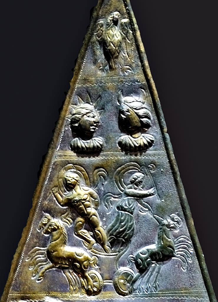 Votive bronze tablet dedicated to Jupiter Dolichenus (3d, 4th and 5th registers). Bronze, chasing. Inv. No. M5. Vienna, Museum of Art History