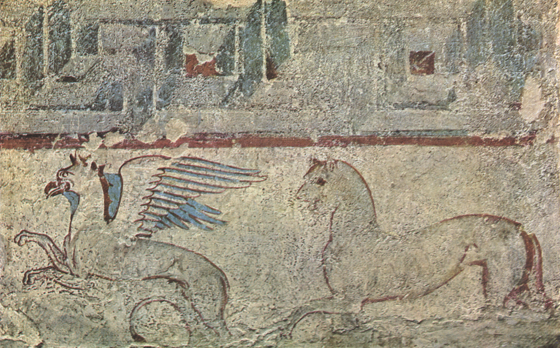 Detail of frieze with animals. 2nd—1st centuries BCE. From Vulci, François Tomb. Rome, Torlonia Museum