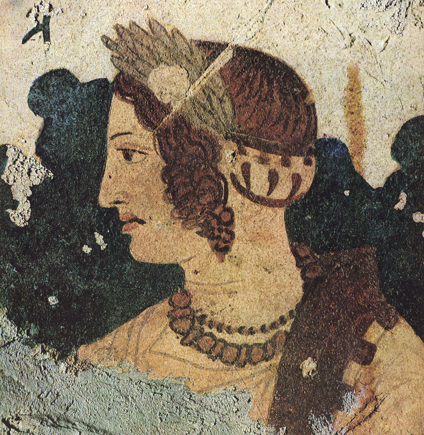 Female face. Ca. 280—150 BCE. Tarquinia, Tomb of the Orcus