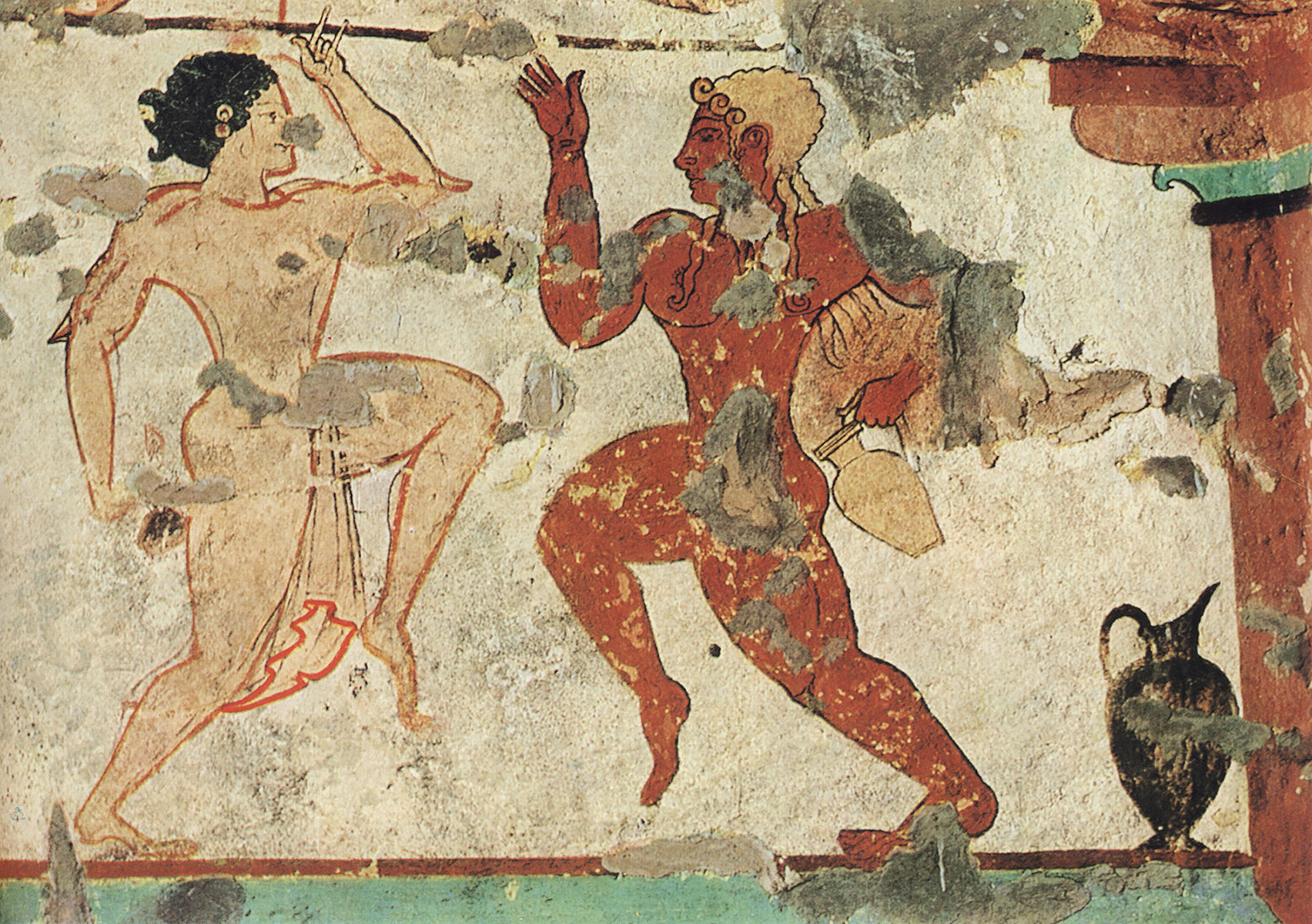 Ritual dance. 6th century BCE. Tarquinia, Tomb of the Lionesses