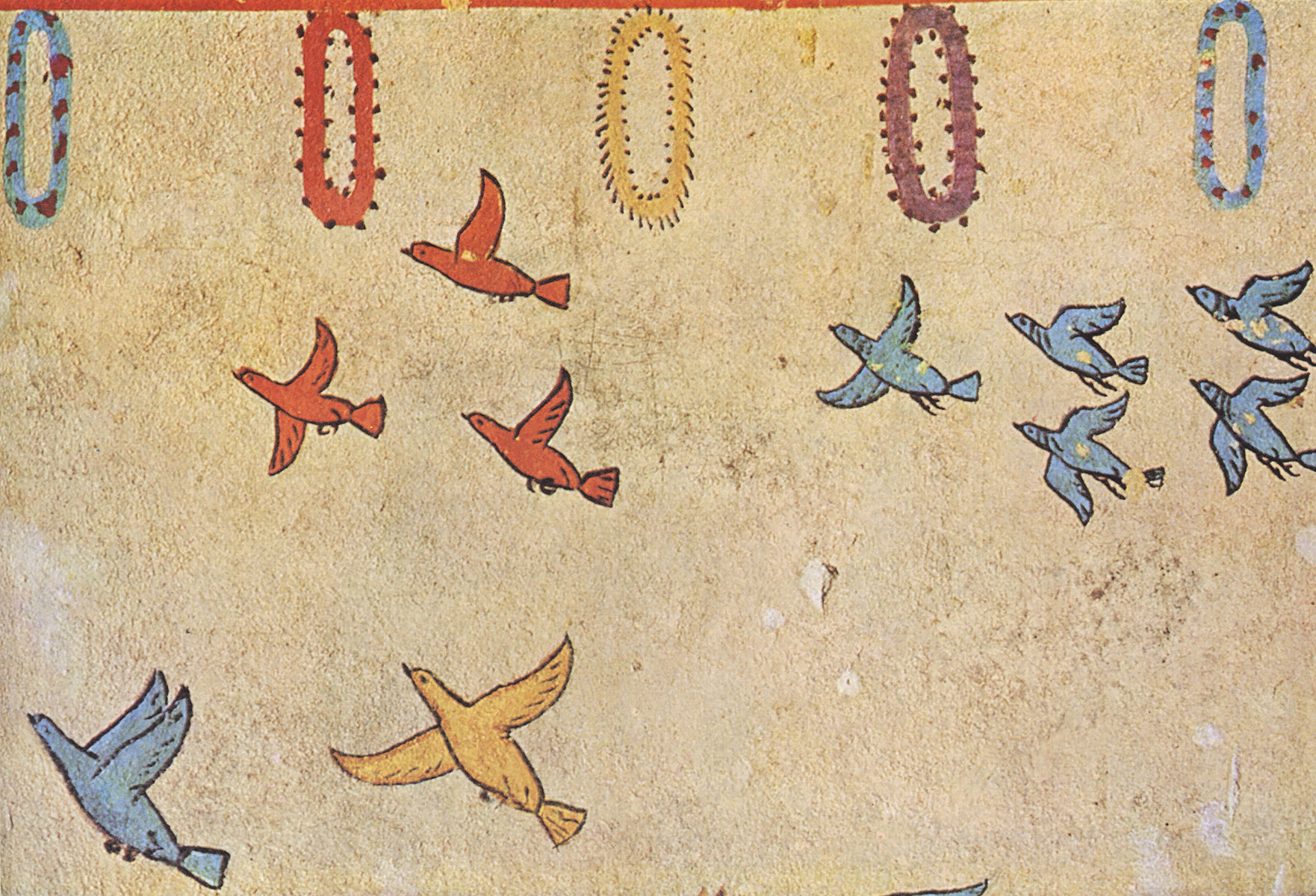 Bird fly. 6th century BCE. Tarquinia, Tomb of the Hunting and Fishing