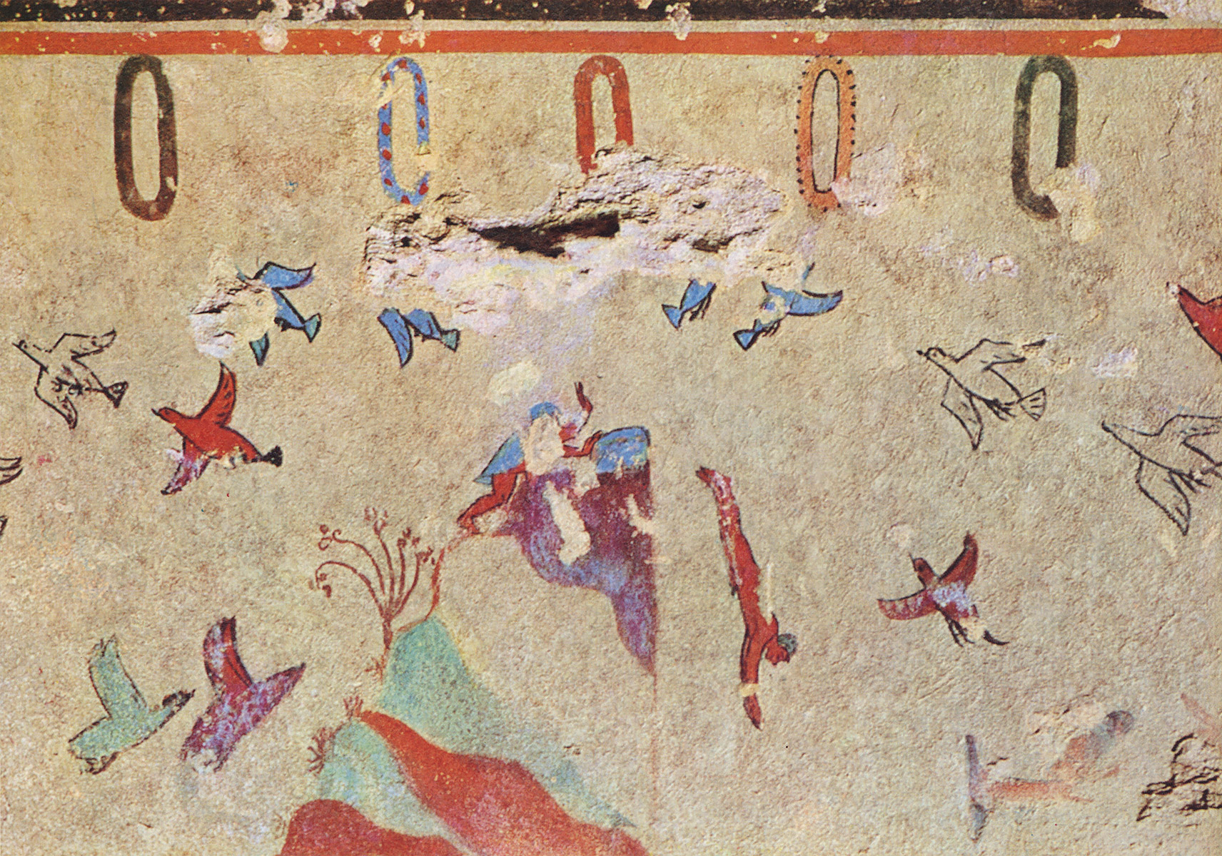 Young man, diving from reef. 6th century BCE. Tarquinia, Tomb of the Hunting and Fishing