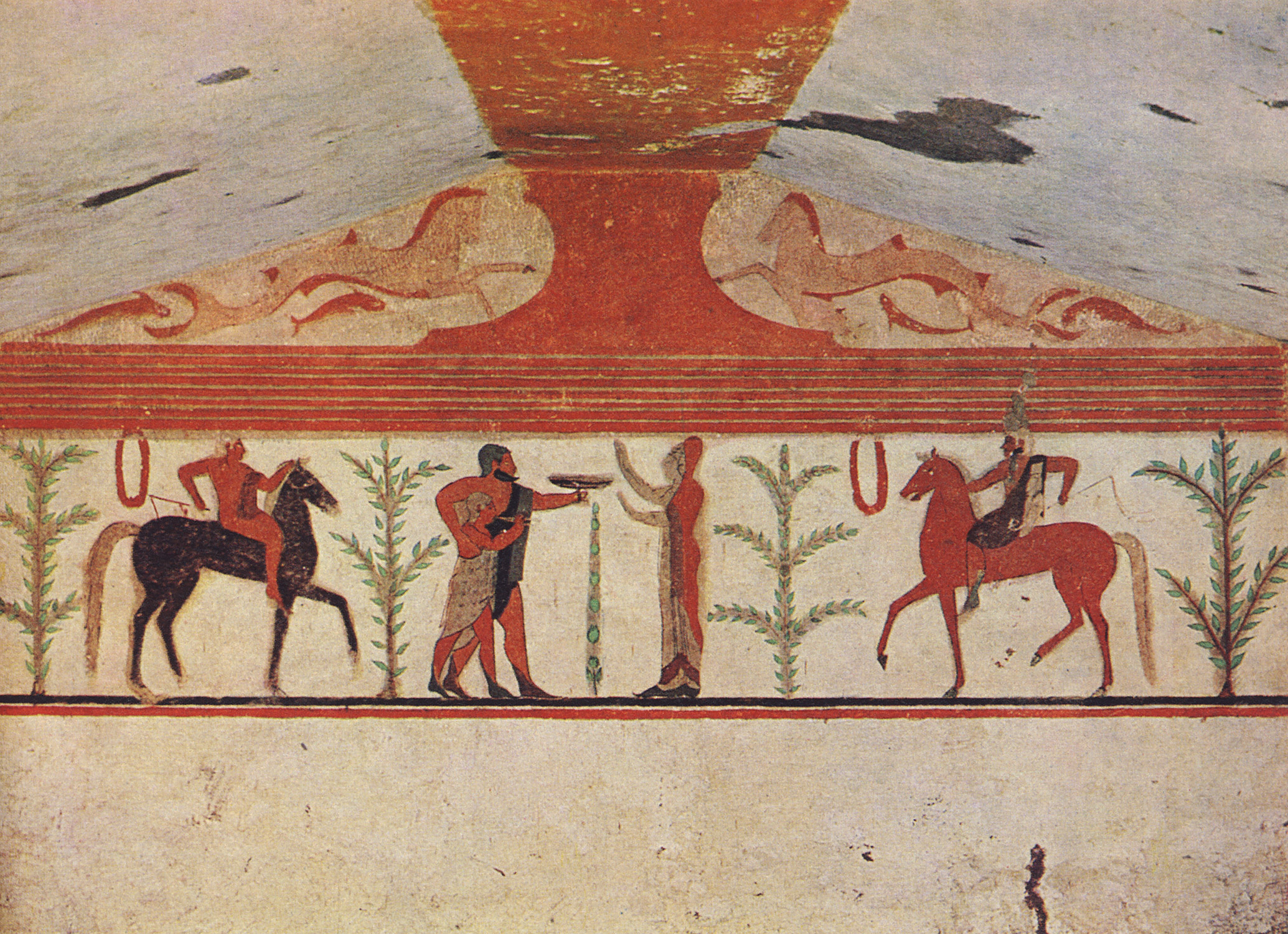 Central composition of the Baron's tomb. 6th century BCE. Tarquinia, Tomb of the Baron