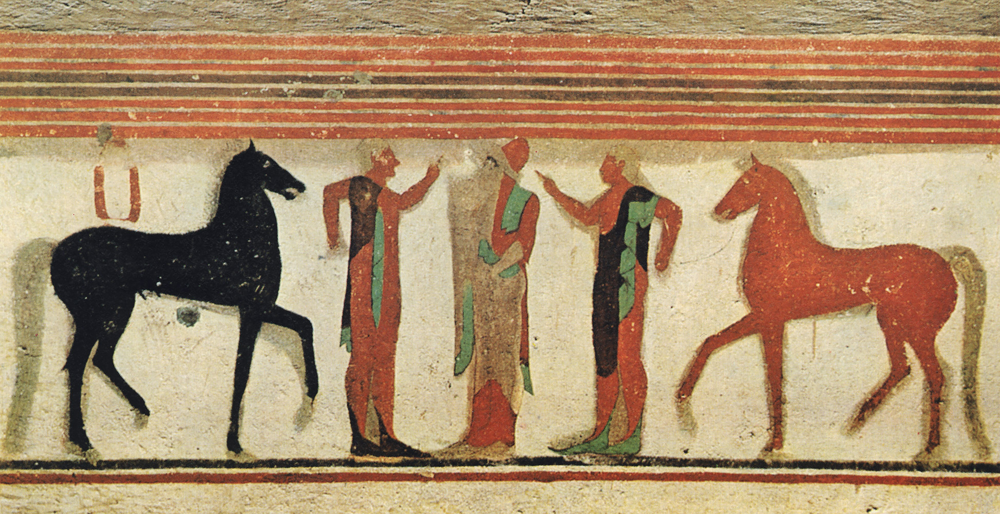 Conversation. 6th century BCE. Tarquinia, Tomb of the Baron