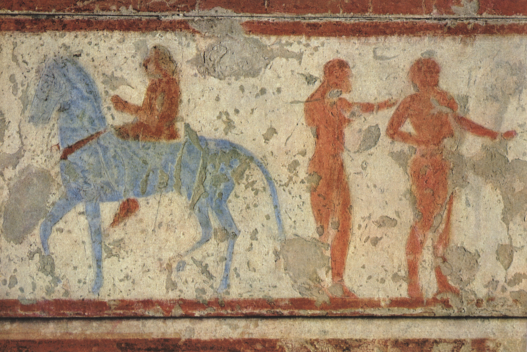Athletes and horseman. 5th century BCE. Tarquinia, Tomb of the Chariots