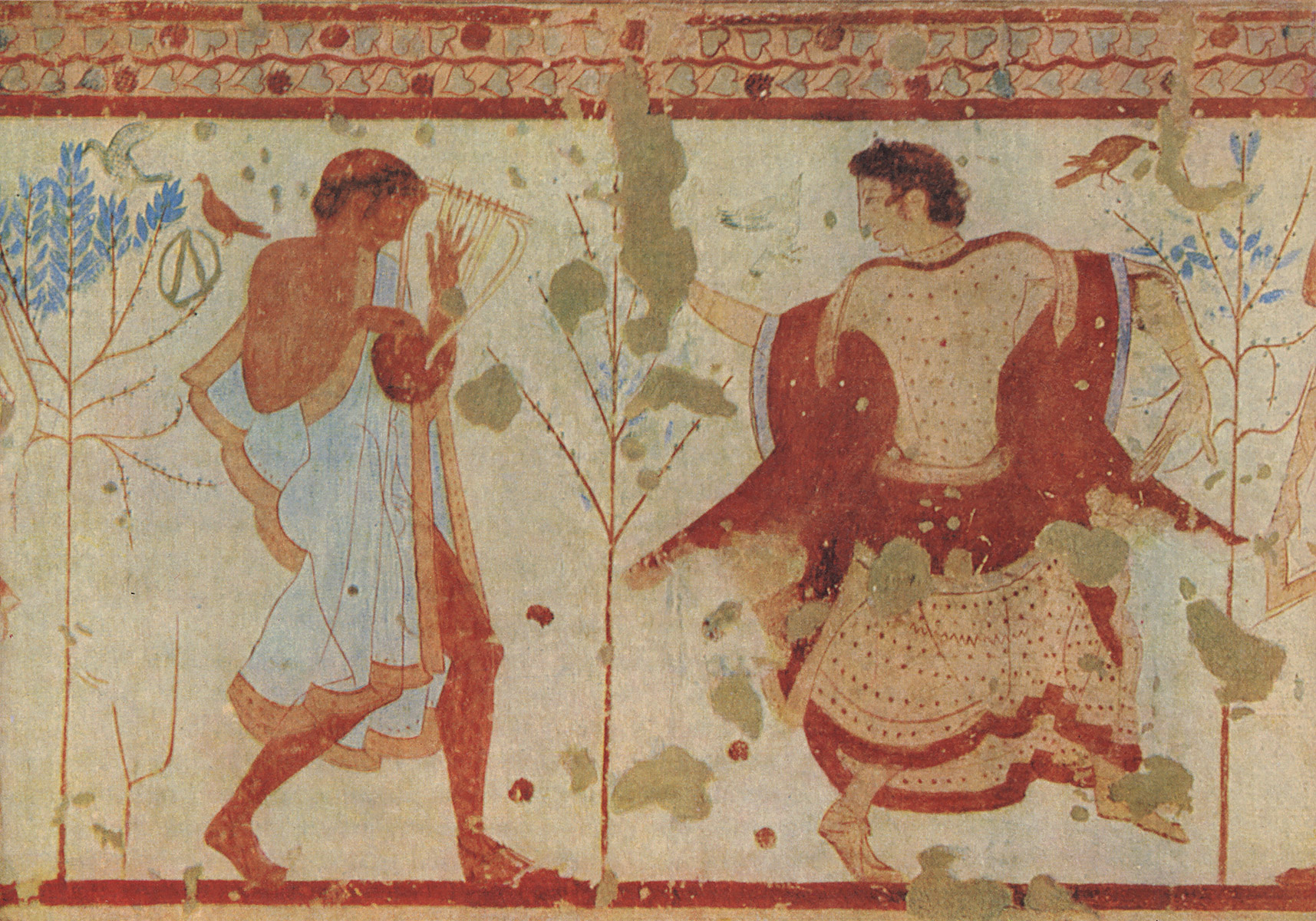Dancer and lyre player. 5th century BCE. Tarquinia, Tomb of the Triclinium