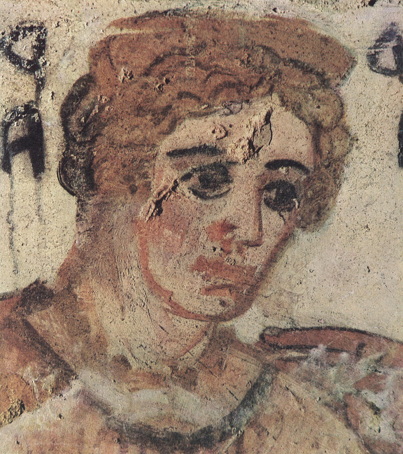 Mother of Lars Velch. Detail. 3rd—2nd centuries BCE. Tarquinia, Tomb of the Shields