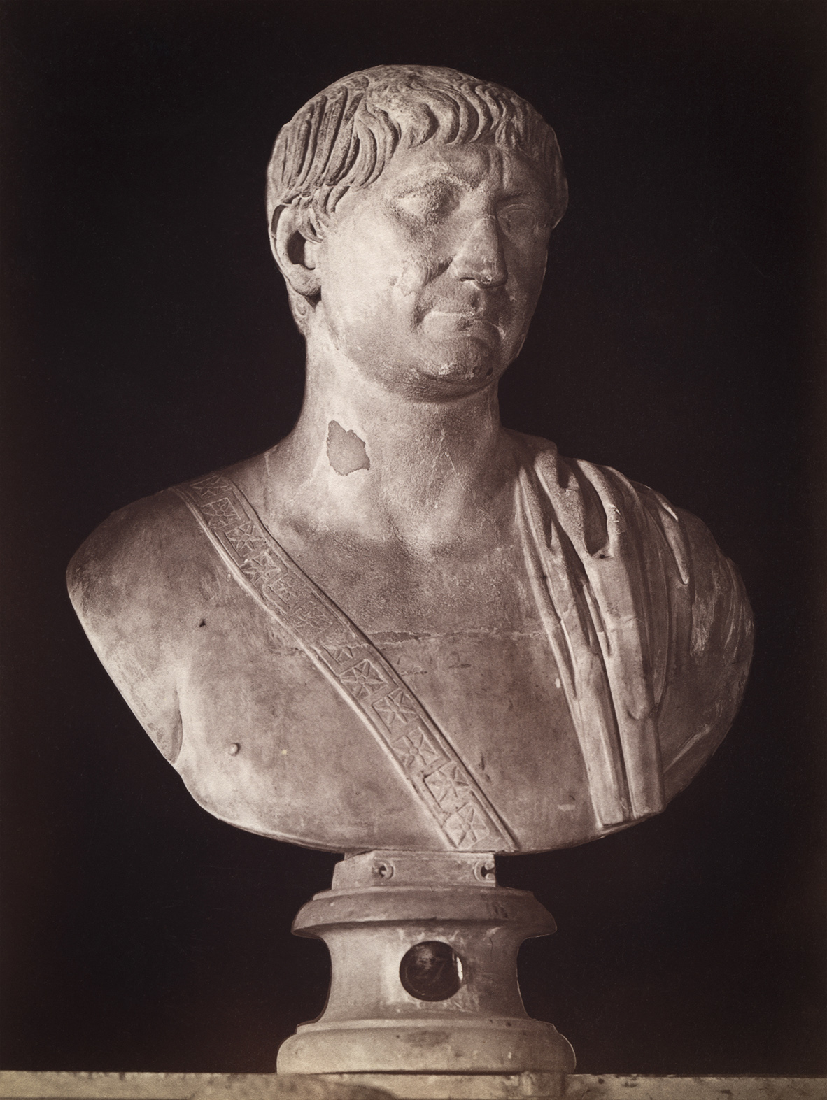 Ulpius Trajanus, adopted son of Nerva. Marble. Rome, Capitoline Museums, Palazzo Nuovo, Hall of the Emperors