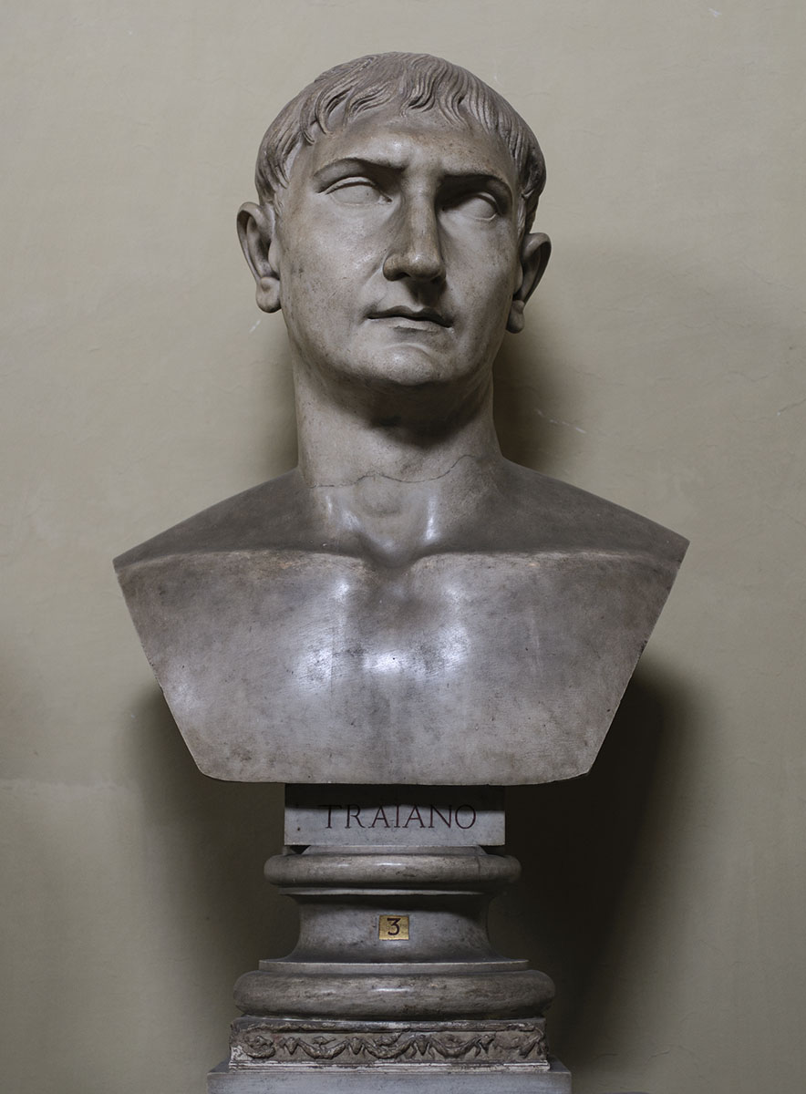 Bust attributed to Trajan. Marble. 98—117 CE. Inv. No. 1931. Rome, Vatican Museums, Chiaramonti Museum, XLV. 3