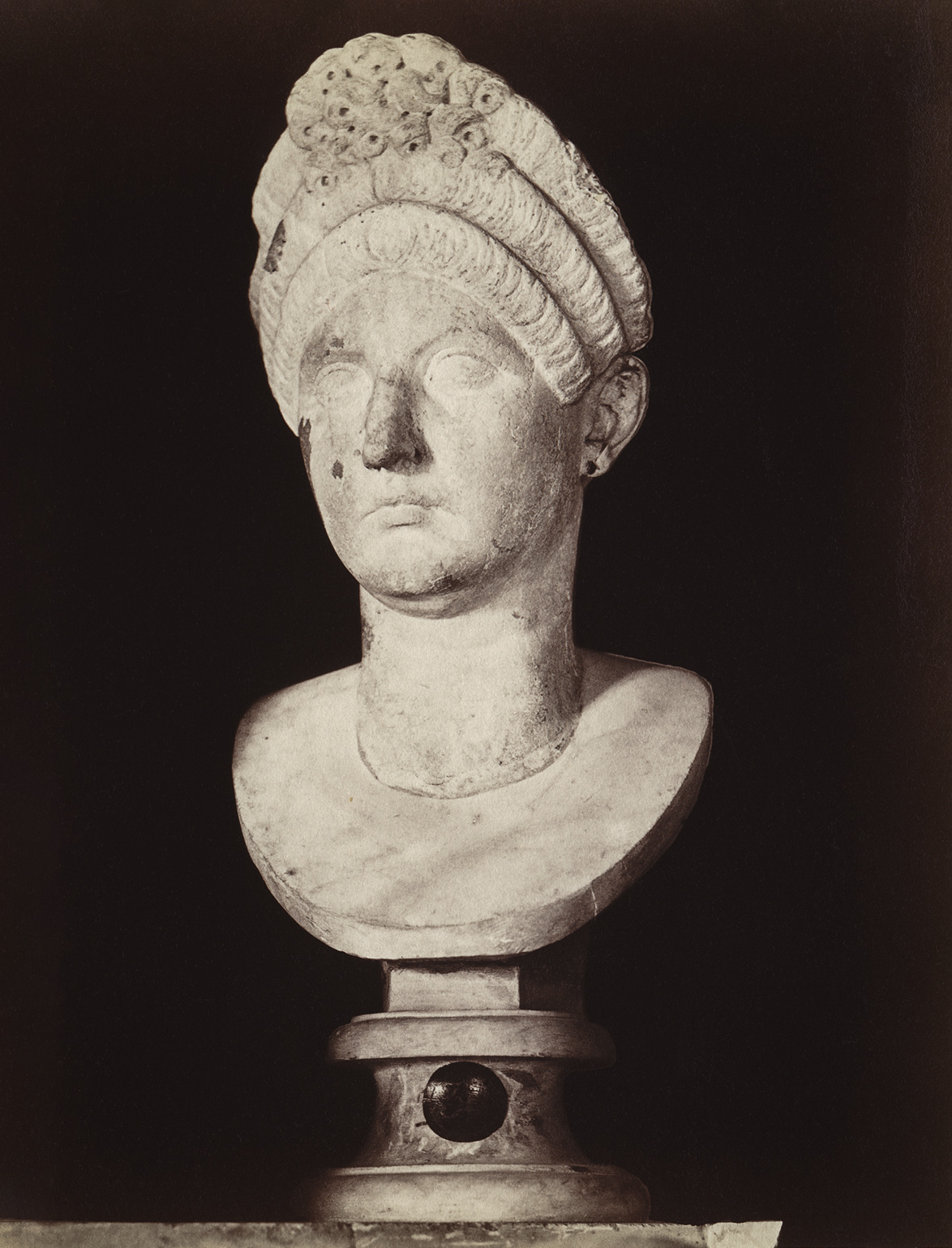 Matidia, the daughter of Marciana. Marble. Rome, Capitoline Museums, Palazzo Nuovo, Great Hall