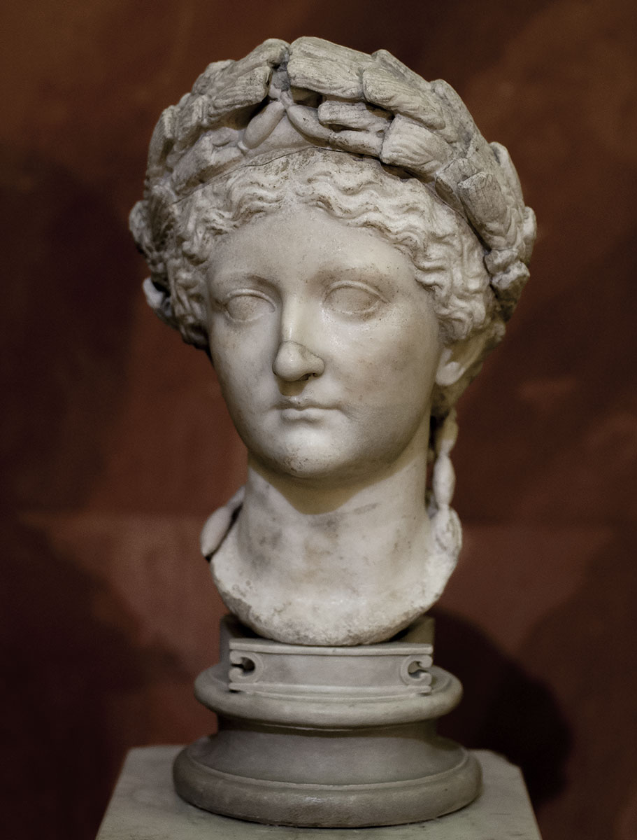 Portrait of Livia, the wife of the emperor Octavian August. Marble. Second quarter of the 1st century. Inv. No. A 116. Saint Petersburg, The State Hermitage Museum