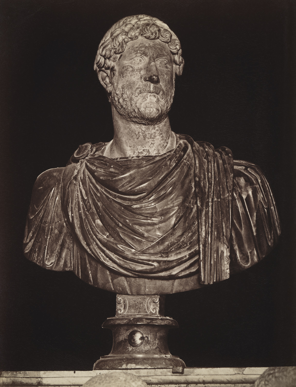 Aelius Hadrian, the adopted son of Trajan. Marble. Rome, Capitoline Museums, Palazzo dei Conservatori, Green Room