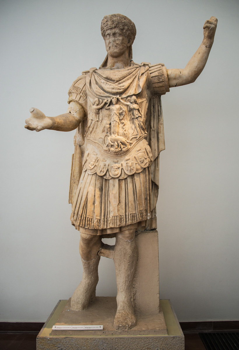 Statue of Hadrian. Marble. Ca. 117—138 CE. Olympia, Archaeological Museum