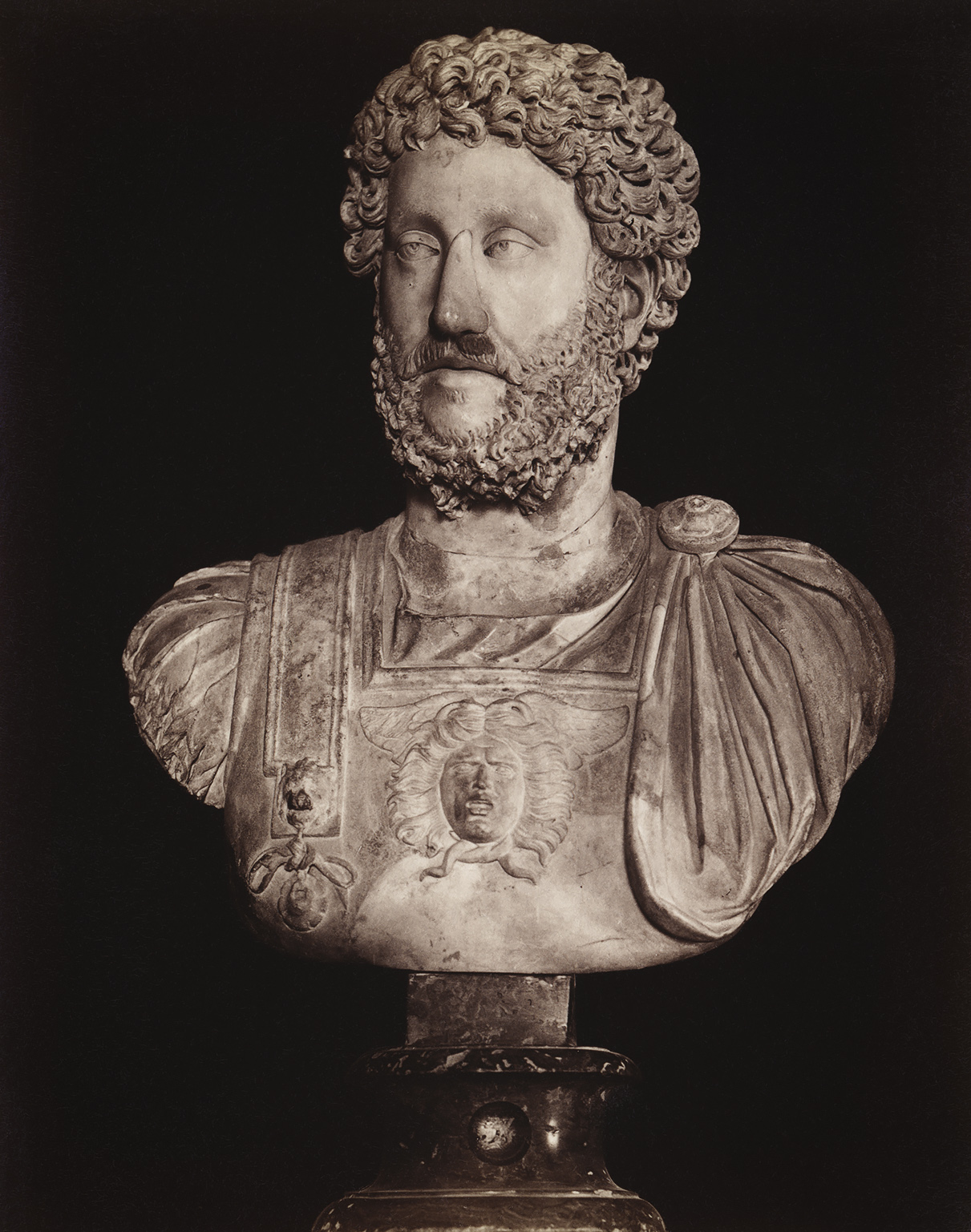 Aelius Caesar, the adopted son of Hadrian. Marble. Rome, Capitoline Museums