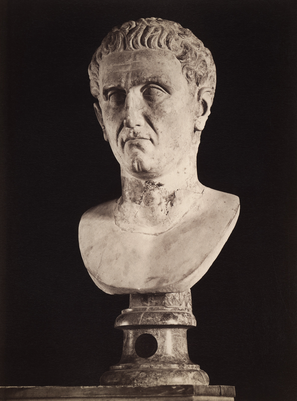 Drusus the Elder, the brother of Tiberius. Marble. 1st century. Rome, Capitoline Museums, Palazzo Nuovo, Hall of the Emperors
