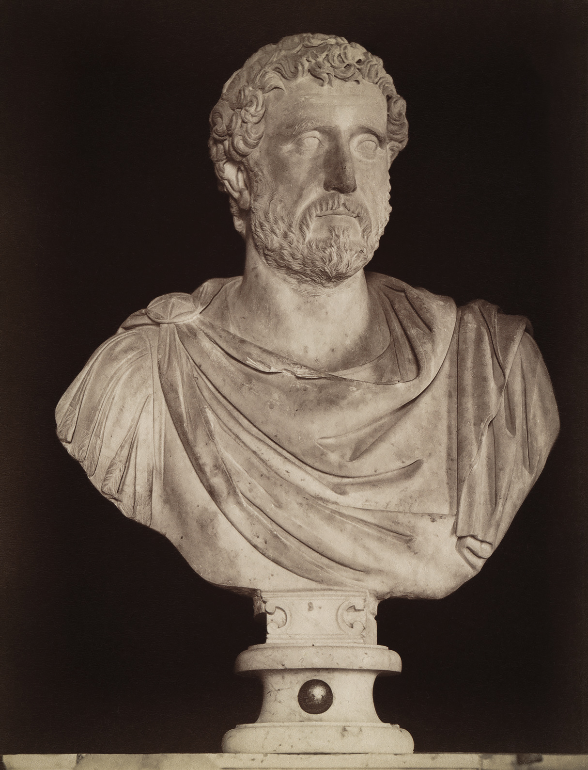 Antoninus Pius, the adopted son of Hadrian. Marble. 2nd century. Rome, Capitoline Museums, Palazzo Nuovo, Hall of the Emperors