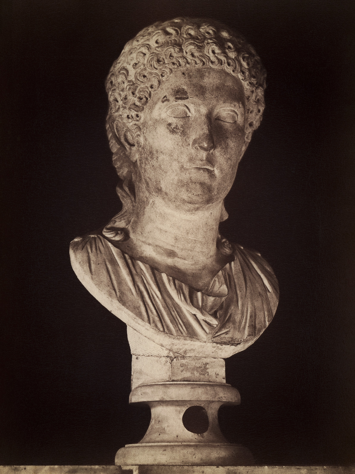 Agrippina the Younger, the daughter of Germanicus. Marble. 1st century. Rome, Capitoline Museums, Palazzo Nuovo, Hall of the Emperors