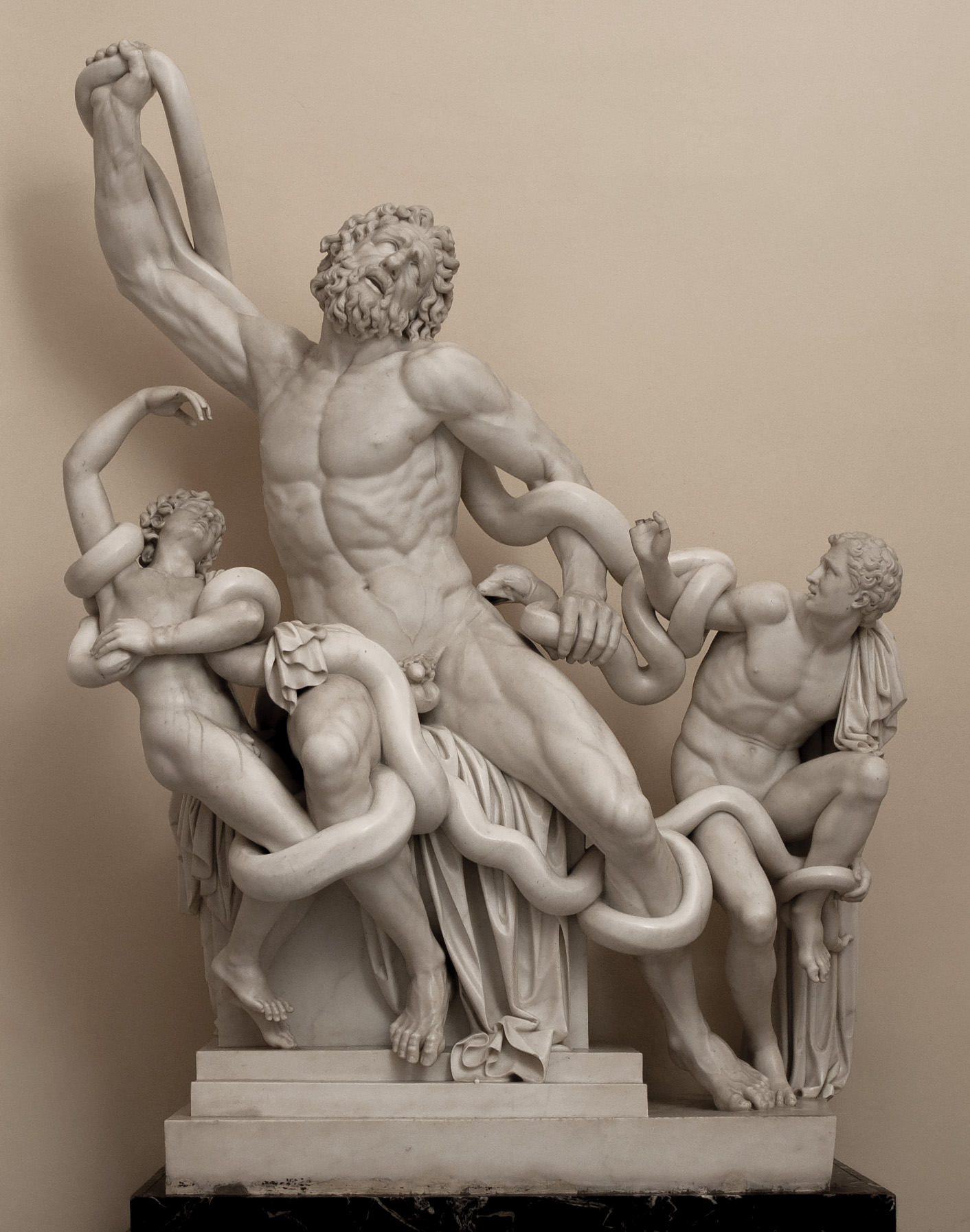 Laocoön (after the Antique). Paolo Andrea Triscornia (1757—1833). Marble. 1787—1798. Saint Petersburg, The State Hermitage Museum