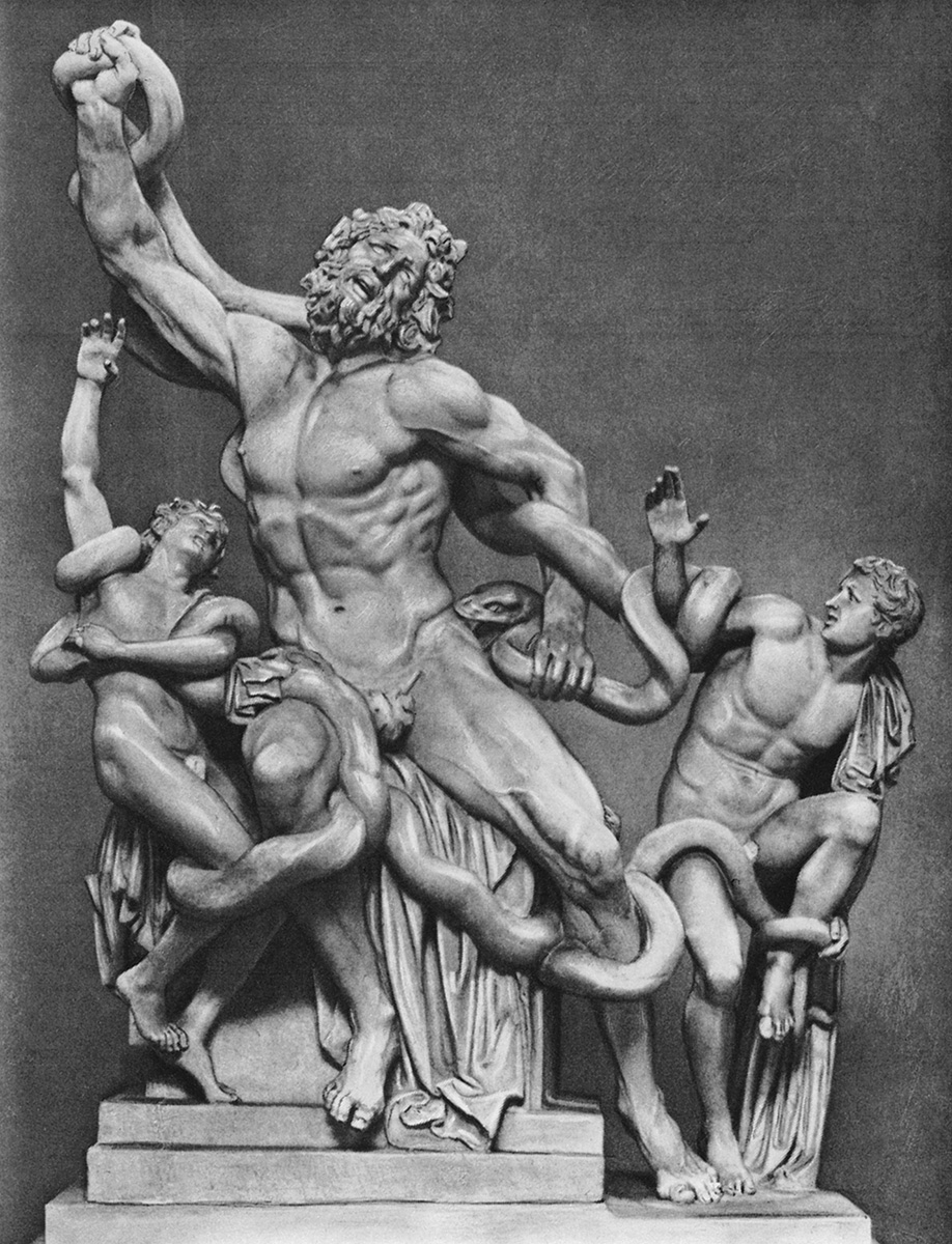 Death of Laocoön and his sons. Marble. Reconstruction by Montorsoli. Rome, Vatican Museums