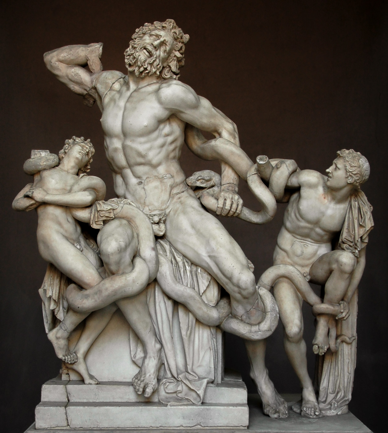 The Laocoon group. Marble. 1st century CE. Inv. No. 1059. Rome, Vatican Museums, Pius-Clementine Museum, Octagonal Court, Laocoon Cabinet, 2