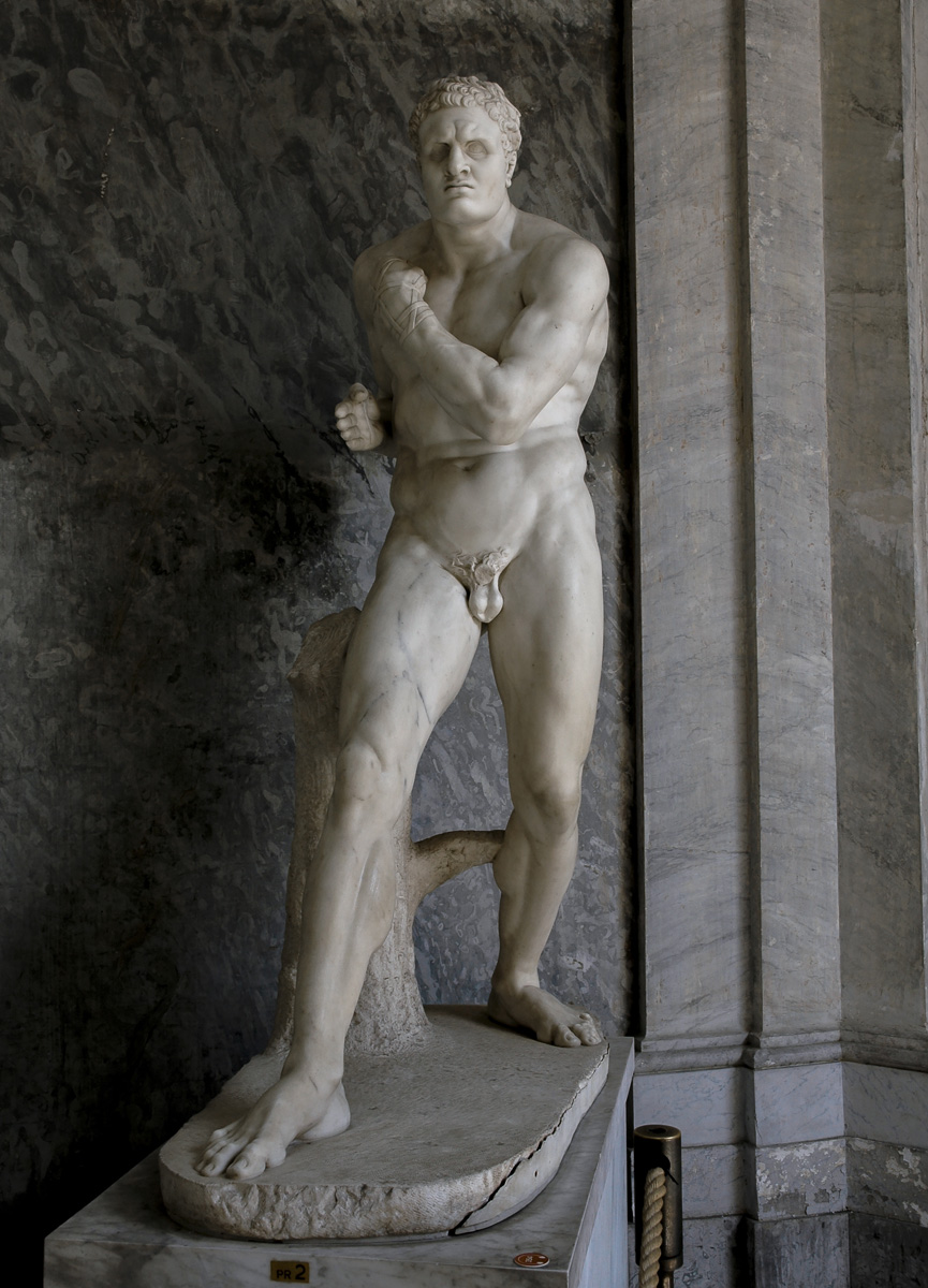 Damoxenos. Antonio Canova (1757—1822). Marble. 1800. Inv. No. 970. Rome, Vatican Museums, Pius-Clementine Museum, Octagonal Court, Cabinet of Canova (Perseus), 2