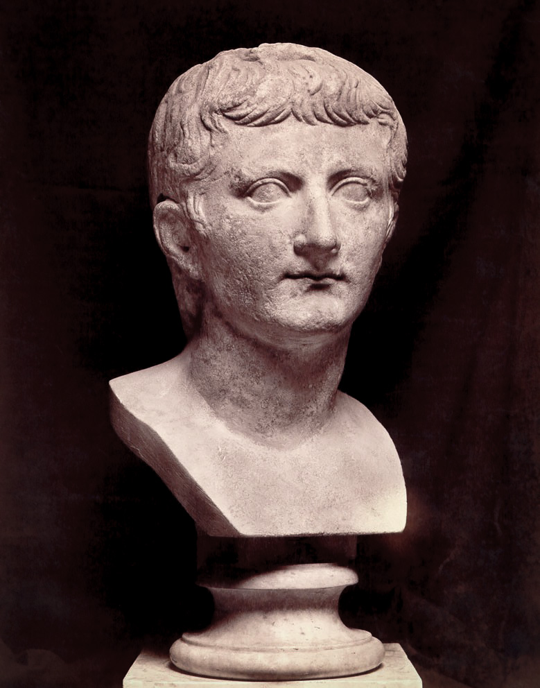 Bust of Tiberius. Marble. Rome, Capitoline Museums, Palazzo Nuovo, Hall of the Emperors