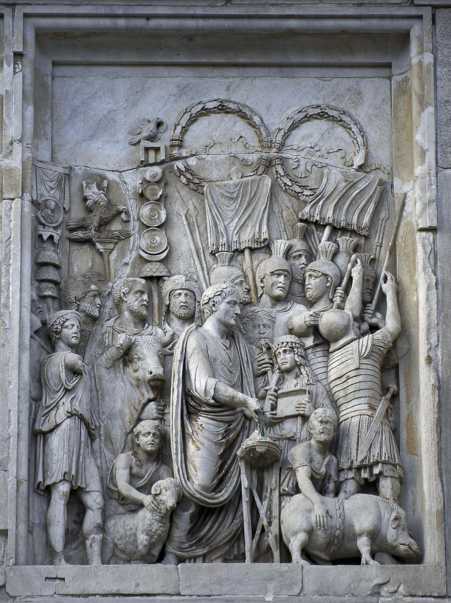 Scene Of The Lustratio Rome Arch Of Constantine Roma